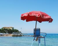 Life Guard Umbrella Stock Images