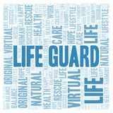 Life Guard word cloud. Wordcloud made with text only vector illustration