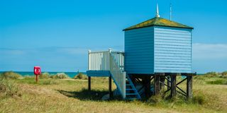 Life guards hut on stilts