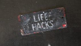 Life hacks stock video