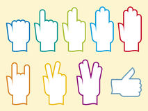 Life-hands (vector). Assorted hands (vector) in different positions Royalty Free Stock Photography