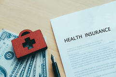 Life and health insurance policy concept idea. Stock Image