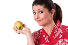 Life healthy, eat an apple Royalty Free Stock Images