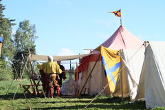 Life in historical camp Royalty Free Stock Photography