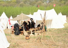Life in historical camp Royalty Free Stock Photo