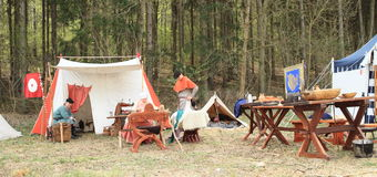 Life in historical camp Royalty Free Stock Image