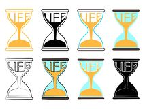 Life Hourglass colored stock illustration