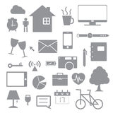 Daily life icon Royalty Free Stock Image