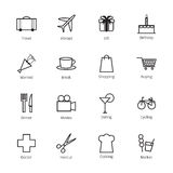 Daily life icons Stock Image
