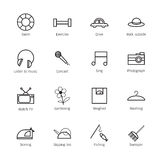 Daily life icons Royalty Free Stock Images