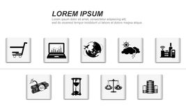 Life icons. Vector set of simple life icons Royalty Free Stock Photos