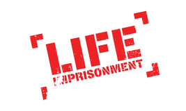 Life Imprisonment rubber stamp Stock Photos