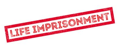 Life imprisonment rubber stamp Royalty Free Stock Images