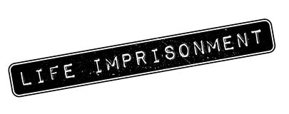 Life imprisonment rubber stamp Royalty Free Stock Photo