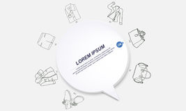 Life infographics circle origami style. Vector illustration of life infographic Stock Photos
