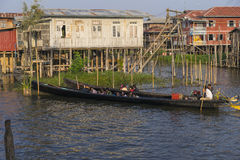 Life on  Inle lake Royalty Free Stock Photos