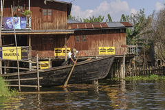 Life on  Inle lake Royalty Free Stock Images