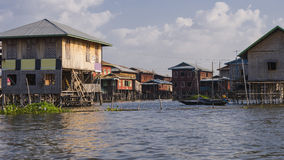 Life on  Inle lake Royalty Free Stock Photo