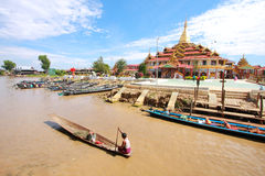 Life at Inle lake, Myanmar. Royalty Free Stock Images