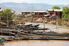 Life at Inle lake, Myanmar. Royalty Free Stock Photography