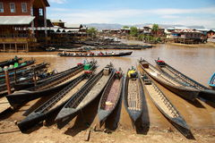 Life at Inle lake, Myanmar. Royalty Free Stock Photos