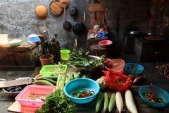 Life inside Hakka round house Stock Image