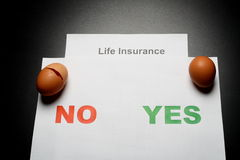 Life insurance. Choice: safety or risk Royalty Free Stock Image