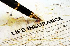 Life insurance. Close up of Life insurance Royalty Free Stock Photography