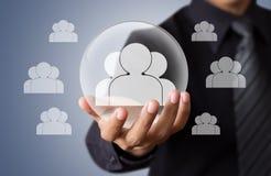 Life insurance concept. Life insurance and marketing segmentation concepts Stock Photos