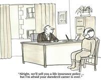 Life Insurance and Daredevil Behavior Stock Image