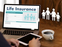 Life Insurance Medical Concept Health Protection Home House Car. Life Stock Image