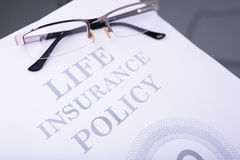 Life insurance policy Royalty Free Stock Image