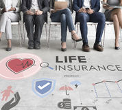 Life Insurance Protection Beneficiary Safeguard Concept Stock Images