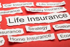 Life Insurance Text On Piece Of Torn Paper Stock Photo