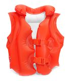 Life-jacket. Red life-jacket. Necessary object for safe sailing Royalty Free Stock Images