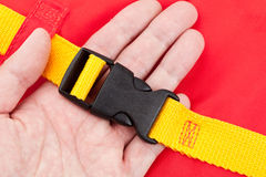 Life Jacket Buckle. Close up royalty free stock images