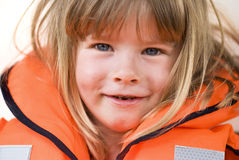 Life-jacket child Royalty Free Stock Photo