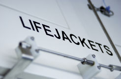 Life jacket compartment Stock Images