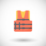 Life jacket  flat icon Royalty Free Stock Photo
