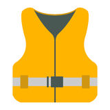 Life Jacket icon. Tourism equipment. River boat trip web element Royalty Free Stock Photos