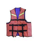 Life jacket isolated. On white with clipping path Royalty Free Stock Photo