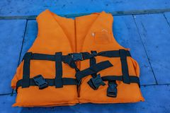 Life jackets for rescue. Life jackets for rescue drowning people stock photography