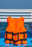 Life jackets for rescue. Life jackets for helping people drowned in the accident stock image