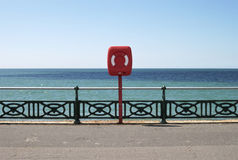 Life-jacket on seafront promenade.UK Royalty Free Stock Images