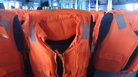 Life jacket on seat stock video footage