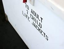 Life Jacket Sign Stock Image