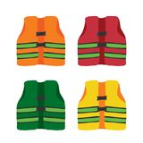 Life jacket vector collection design royalty free illustration