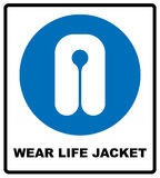 Life Jacket Wear Sign Royalty Free Stock Photo