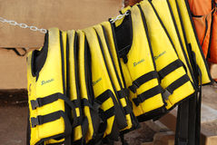 Life jackets Stock Photo