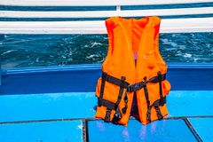 Life jackets for rescue royalty free stock image